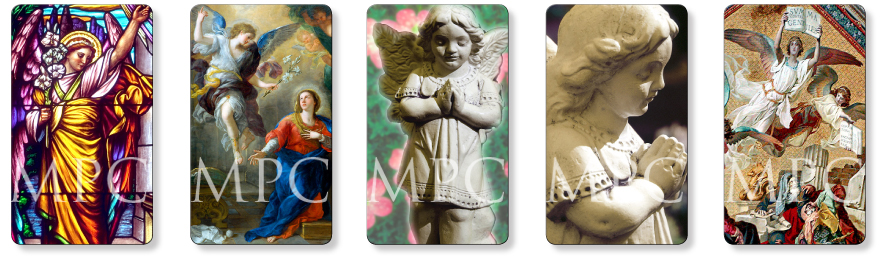 Angel memorial prayer cards