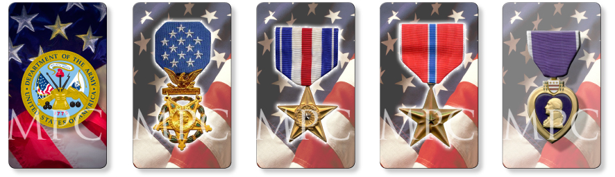 patriotic and United States military memorial prayer cards