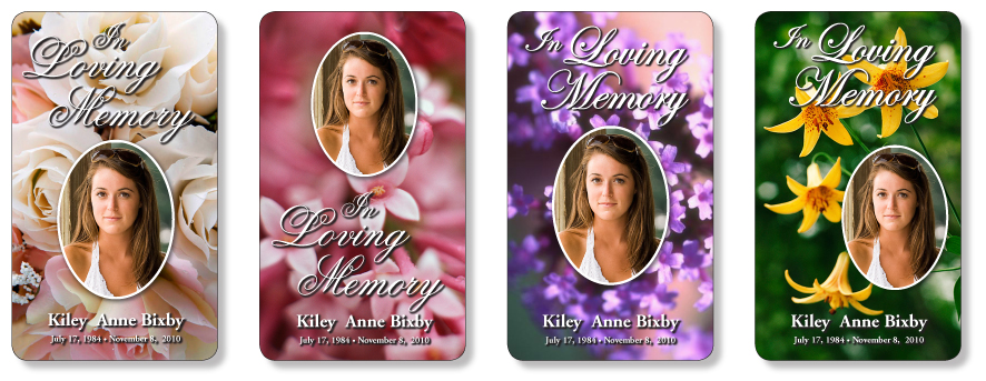 Studio collection memorial prayer cards