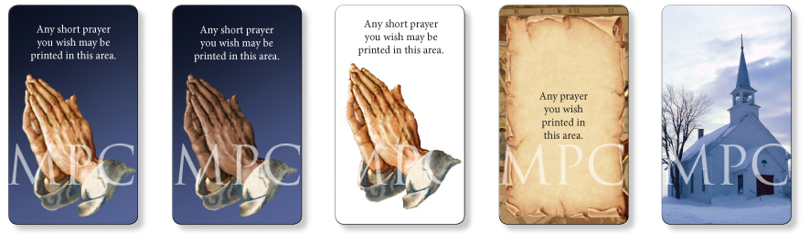 Christian memorial prayer cards