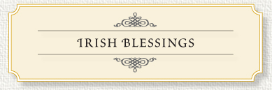 Irish Blessings for Memorial Prayer Cards.